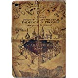 ipad Air 2 CASE Hogwarts Marauder's Map Vintage Retro Pattern Leather Flip Stand Case Cover For ipad Air 2 II