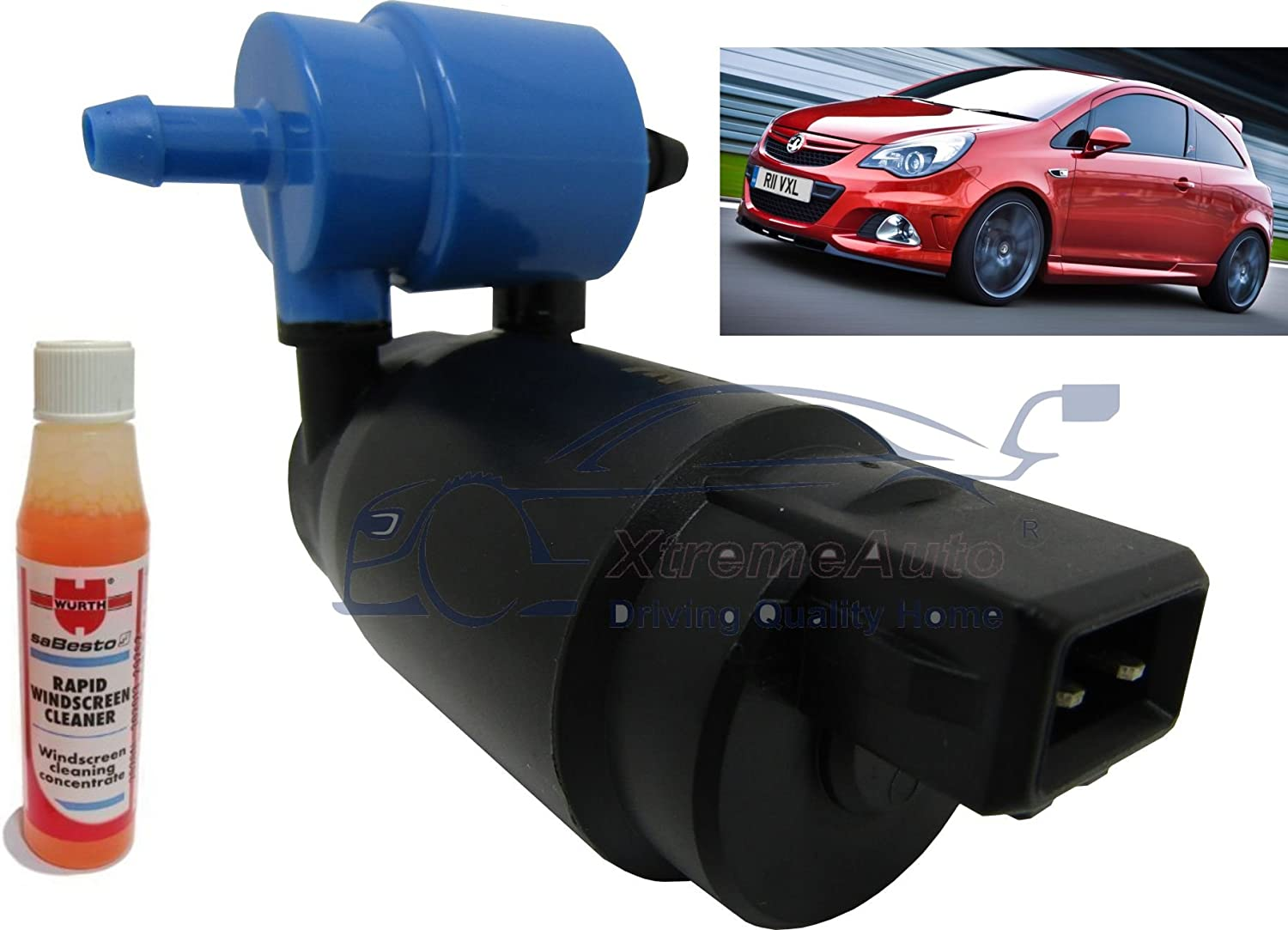 XtremeAuto/® Front /& Rear Windscreen Washer Pump Corsa D 2006