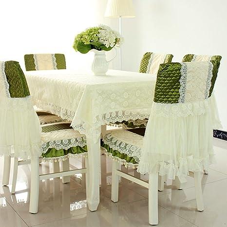 Stile country Check tovaglie sedia della copertura e cuscino ...
