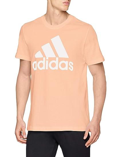 adidas CZ7508 S, Camiseta para Hombre, Naranja/Blanco (Haze Coral s17)