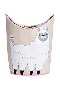 3 Sprouts Baby Laundry Hamper Storage Basket Organizer Bin for Nursery Clothes, Llama