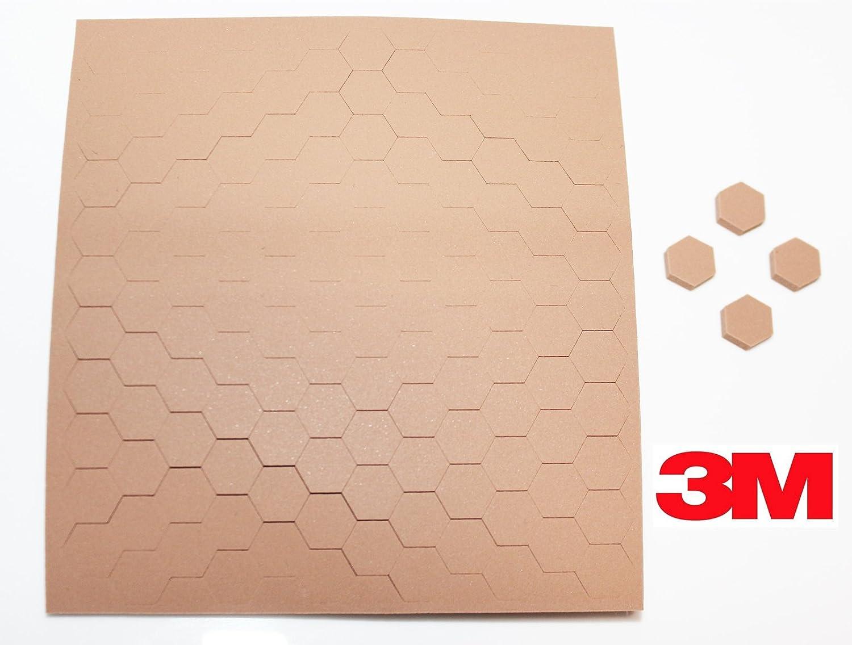3M SJ5202 Light Brown Bumpon Blister Pack (132 Bumpons ) 0.433 in x 0.063 in