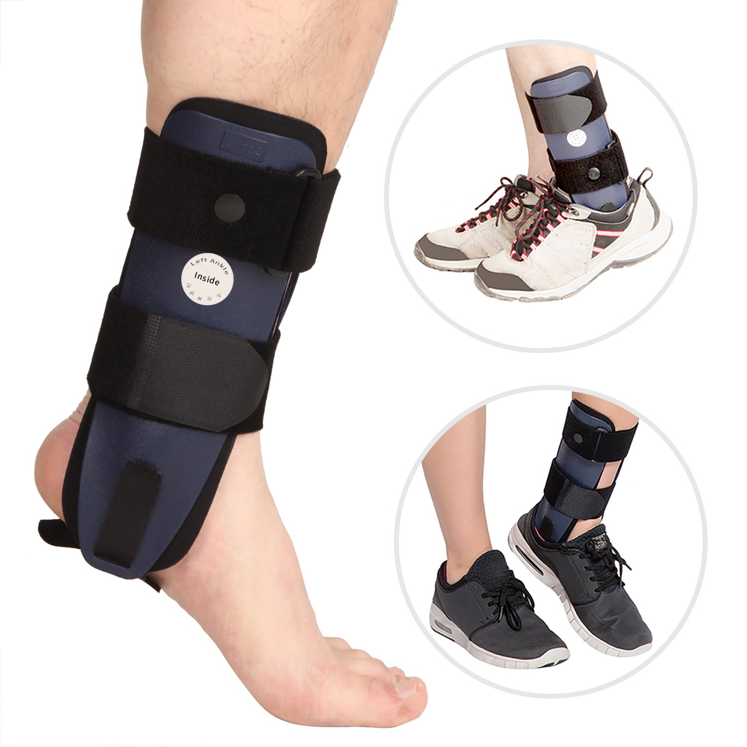 Amazon Ankle Brace with 3 Dimensional Molded Pads