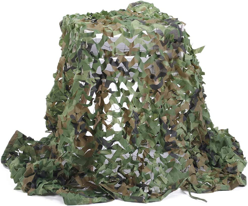 Senmortar Camo Netting Camouflage Net Army Mesh Nets Cover Lightweight with Mesh Net Behind for Hunting Blind Sunshade Decoration Party Fence Shooting Camping Photography Outdoor