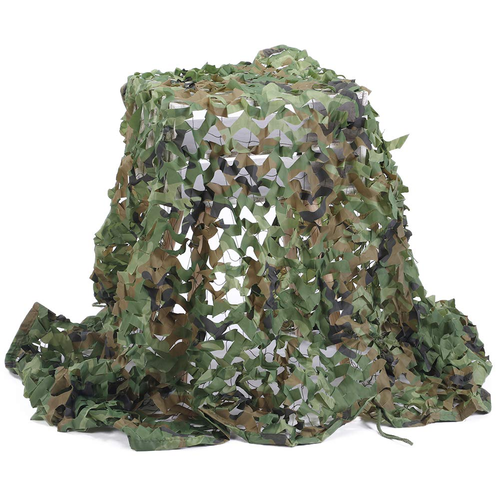 Senmortar Camo Netting, Camouflage Net Army Mesh nets Woodland Durable for Sunshade Decoration Hunting Blind Shooting Camping Photography 3 x 6.56 FT