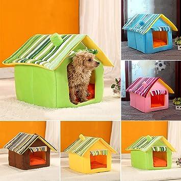 6SlonHyLovely Casa para Perro, Gato, cálida, cojín de Invierno, caseta Lavable, Suministros para Mascotas Desmontables: Amazon.es: Productos para mascotas
