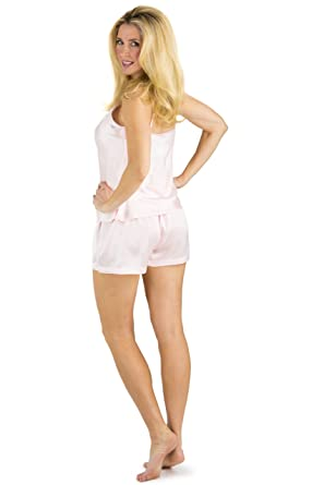 a0581239e560 Fishers Finery Women s 100% Mulberry Silk Cami Boxer Pajama Set at Amazon  Women s Clothing store