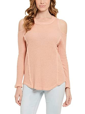 9c7c4c6d3bcbb4 ELAN Women s Peek-A-Boo Sleeve Sweater