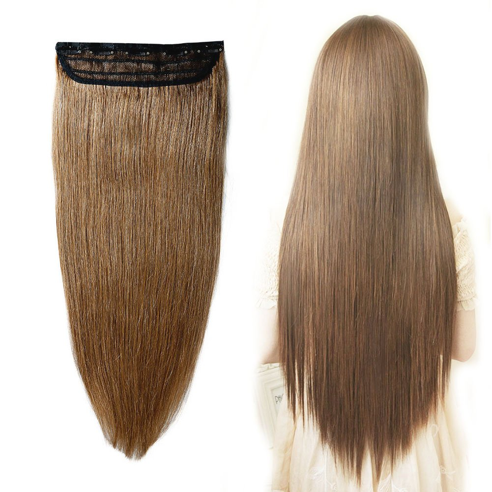 Amazon 100 Remy Clip In Human Hair Extensions 6 Light Brown