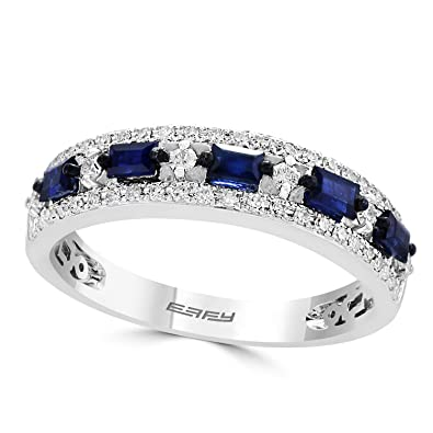 0cc1979c7 Image Unavailable. Image not available for. Color: Effy Royale Bleu 14K  White Gold Sapphire and Diamond Ring ...