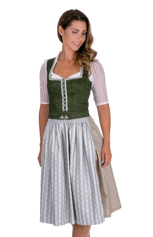 Gr/ö/ßen 34-56 Bayer Madl Dirndl lang 90 cm Designer-Dirndl Kirchendemenreuth rot und beige