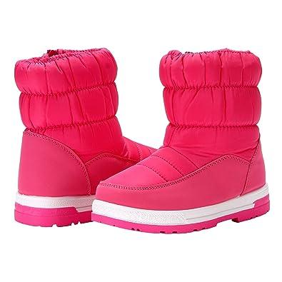 5fcfdee561a VAMV Boys & Girls Snow Boots Fur Lined Non Slip Kids Winter Outdoor  Waterproof Shoes