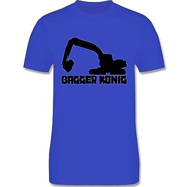 Andere Fahrzeuge - Bagger König - Herren T-Shirt Rundhals: Shirtracer:  Amazon.de: Bekleidung