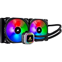 CORSAIR HYDRO Series H115i RGB PLATINUM AIO Liquid CPU Cooler, 280mm Radiator, Dual 140mm ML Series PRO RGB PWM Fans, RGB Lighting and Fan Software Control, Intel 115x/2066 and AMD AM4/TR4 compatible