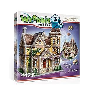 Wrebbit 3D Lady Jane Cottage Puzzle WREBBIT PUZZLES W3D-1004