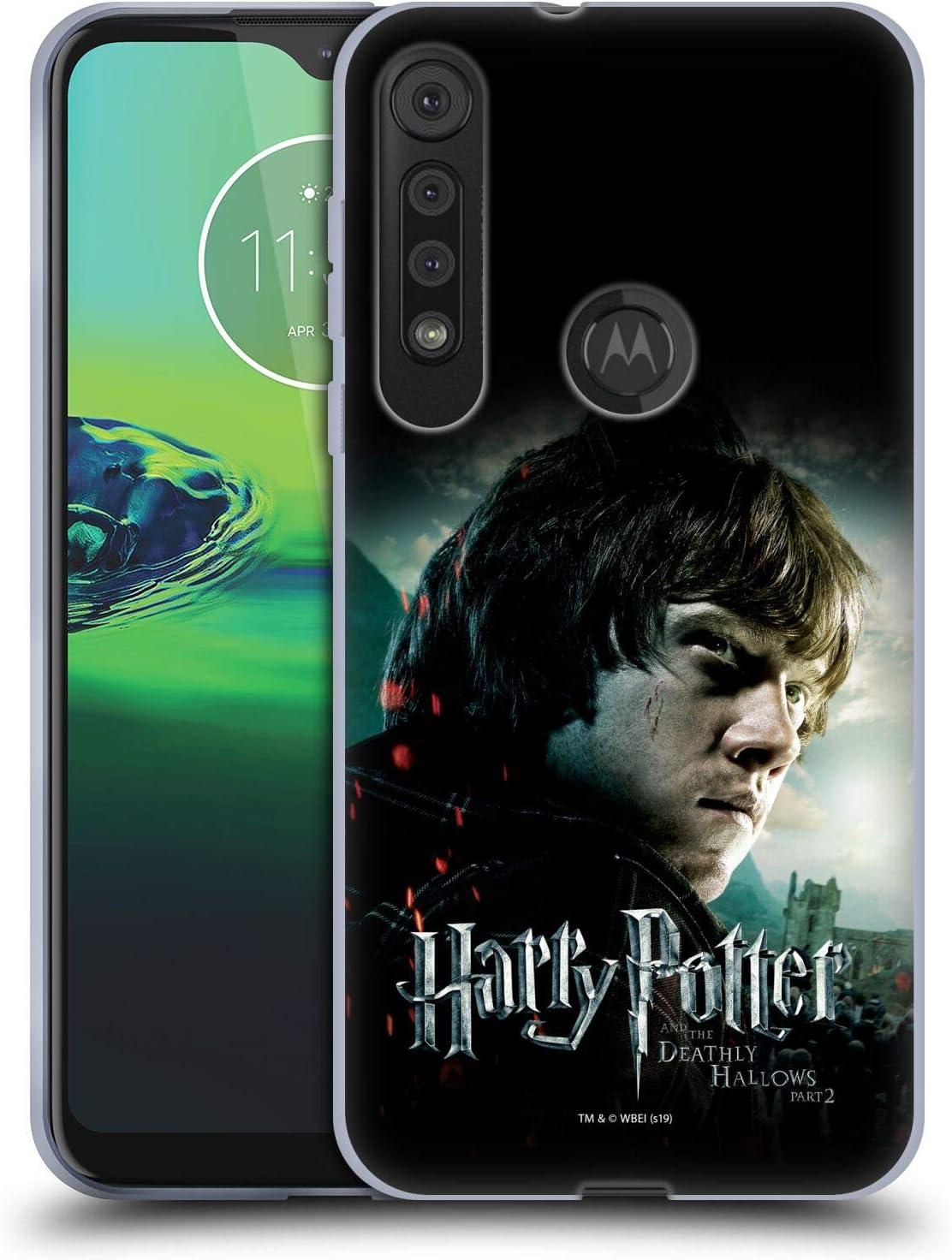 Head Case Designs Oficial Harry Potter Ron Weasley Deathly Hallows VIII Carcasa de Gel de Silicona Compatible con One Macro/Moto G8 Play