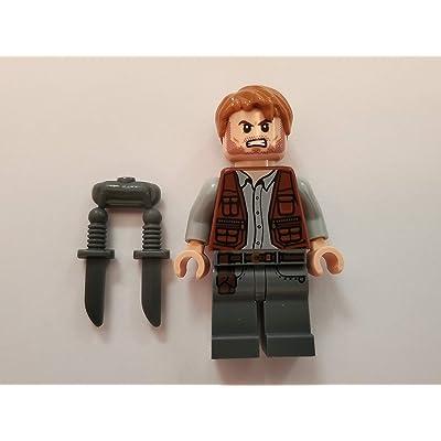LEGO Jurassic World Park Minfigure - Owen Grady with Knife: Toys & Games