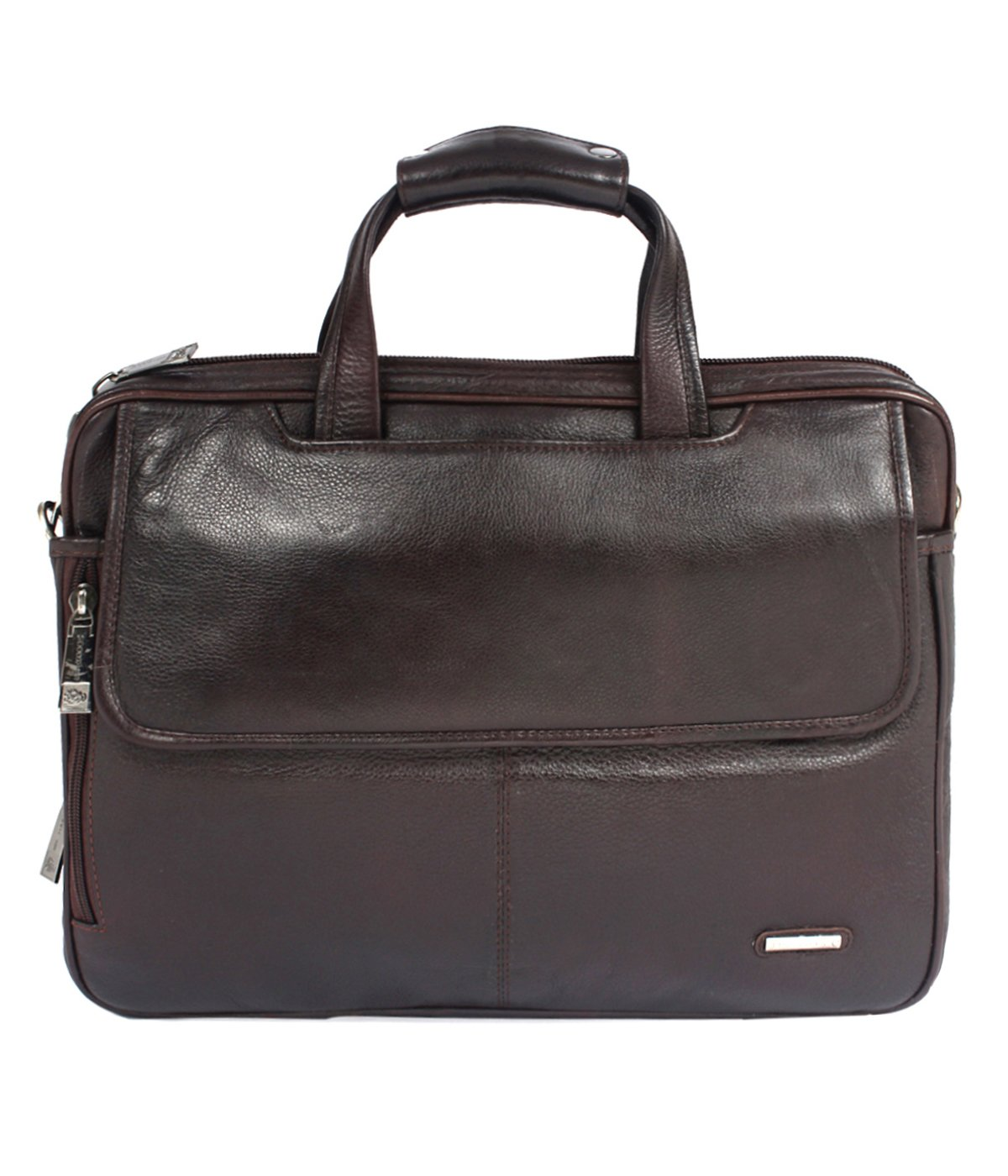 Moochies Pure Leather Office Cum Laptop Bag 18 inch Wide - A Make in India Exquiste Designer Product (B074N42H23) Amazon Price History, Amazon Price Tracker