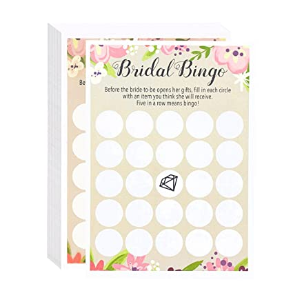floral bridal shower games bingo 50 sheet rustic wedding game cards party supplies