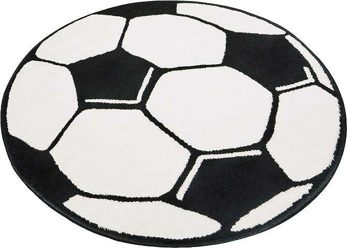 Hanse Home - Alfombra Redonda, diseño de balón de fútbol ...