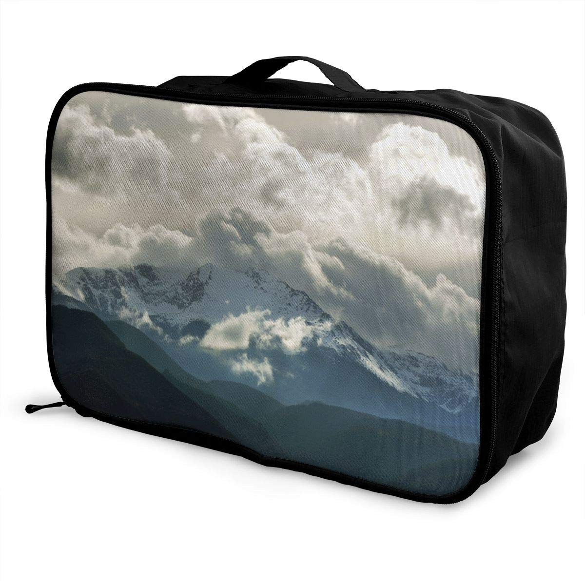 Travel Luggage Duffle Bag Lightweight Portable Handbag Mountains Print Large Capacity Waterproof Foldable Storage Tote