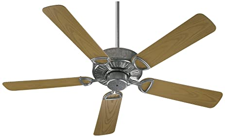 Quorum International 143525 9 Estate Patio Fan, 52u0026quot;, Galvanized