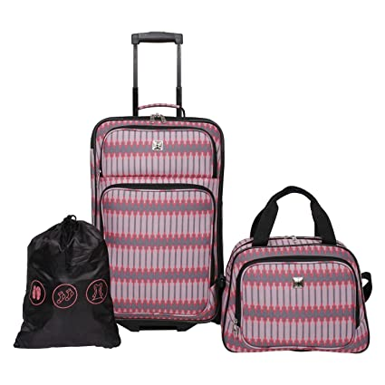 3c42cebcfc27 Amazon.com: Skyline 3pc Luggage Set - Coral Grey Stripe: Electronics