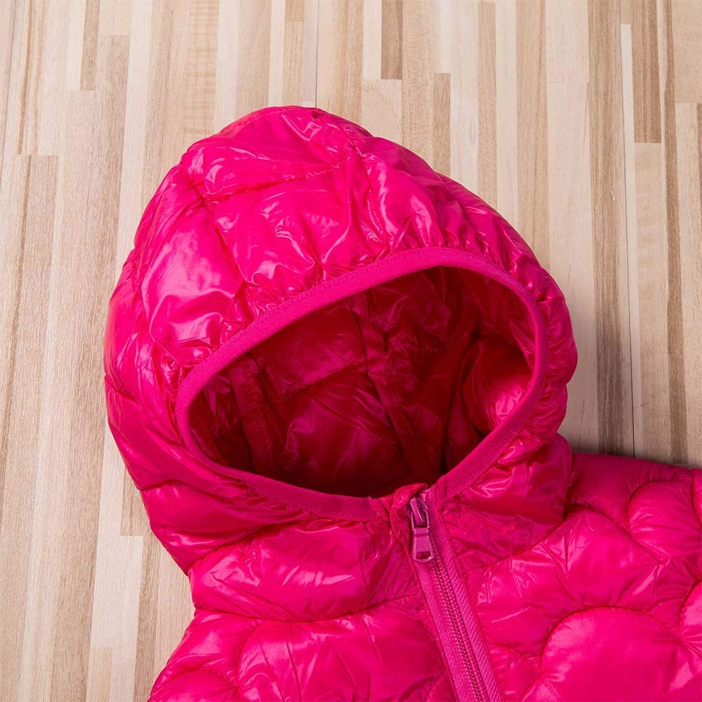 Infant Toddler Baby Ears Hooded Down Jacket Boys Girls Thicken Warm Winter Coat Windproof Lightweight Outerwear