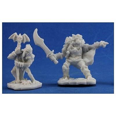 Reaper REM77349 Bones Goblin Command Miniature - 2 Count: Toys & Games