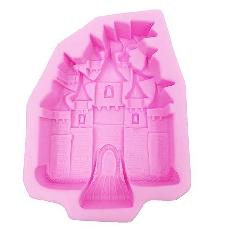 grande molde de silicona Forma castillo para fondant - Sugarcraft Herramienta de decoracion de torta -