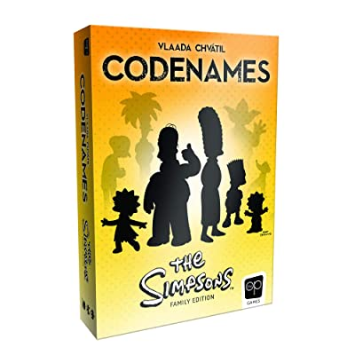 Codenames The Simpsons Edition | Featuring Artwork from Your Favorite Simpsons Seasons | Officially Licensed Simpsons Game | Codenames Family Board Game: Toys & Games