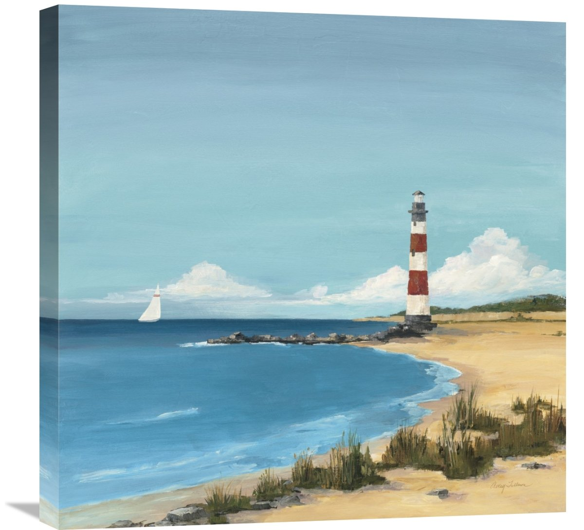 Global GalleryAvery Tillmon Sandy Point Giclee Stretched Canvas Artwork 24 x 24