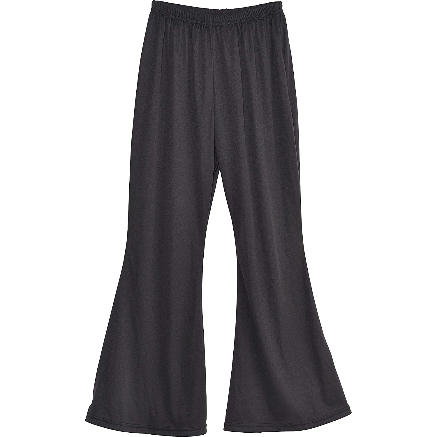 Low Cost Black Bell Bottoms for Men. Standard size with elasticated waist for an easy fit.