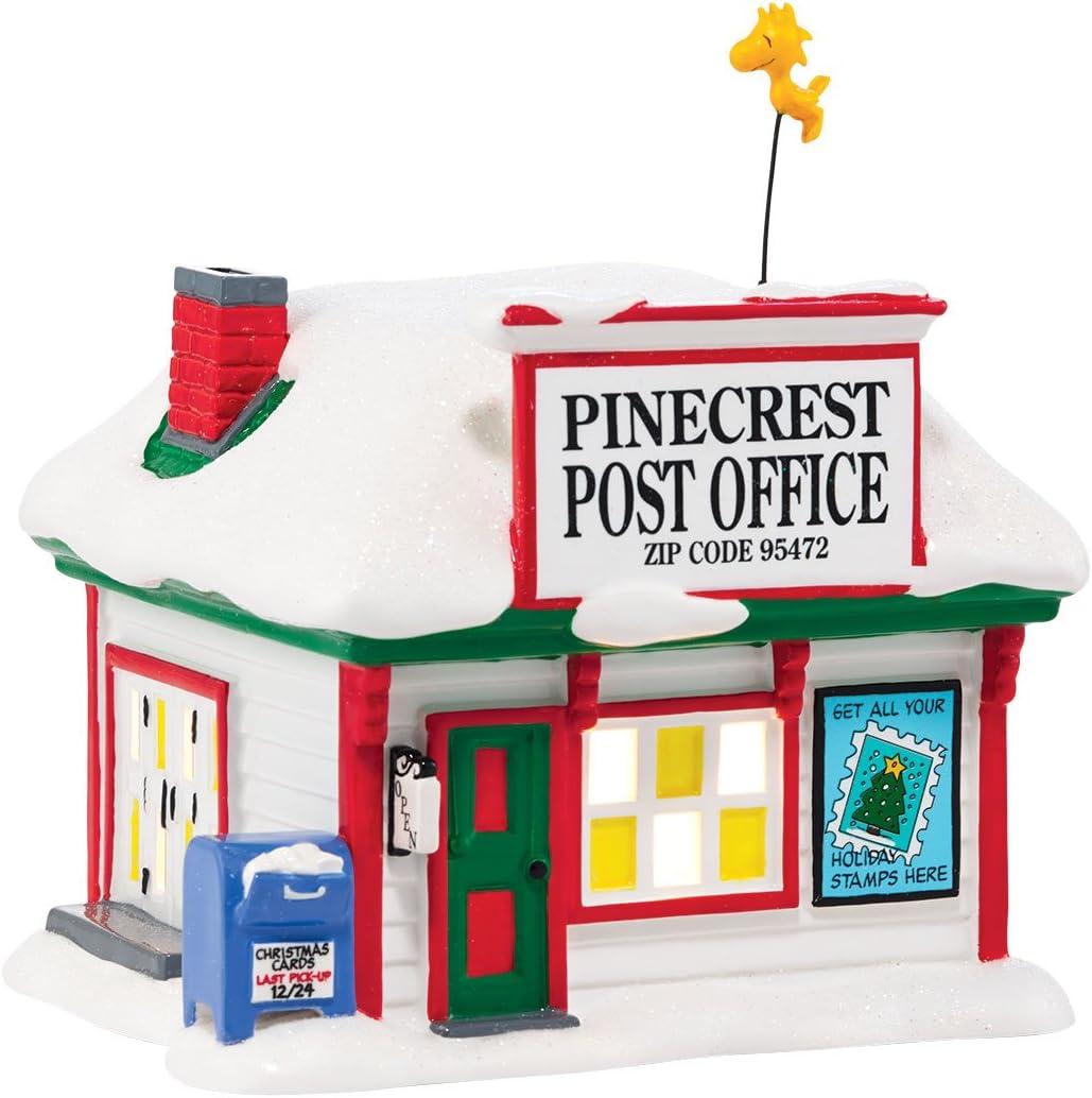 Department 56 Peanuts Village Pinecrest Post Office Lit House, 5.31 inch