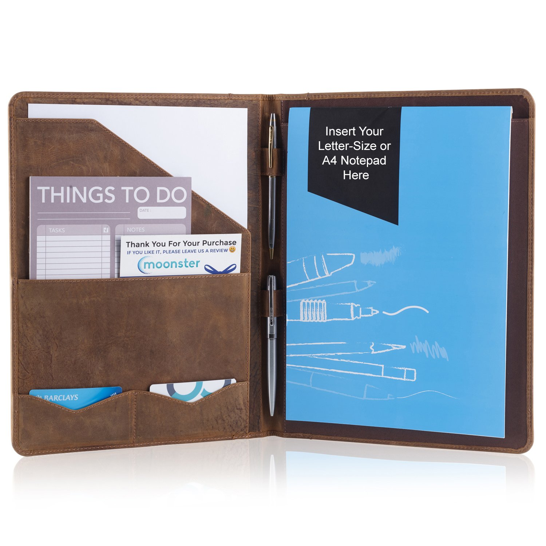 Mua sản phẩm Leather Portfolio Professional Organizer Padfolio ...