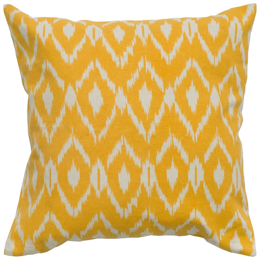 amazoncom ikat pillow color mustard home  kitchen -