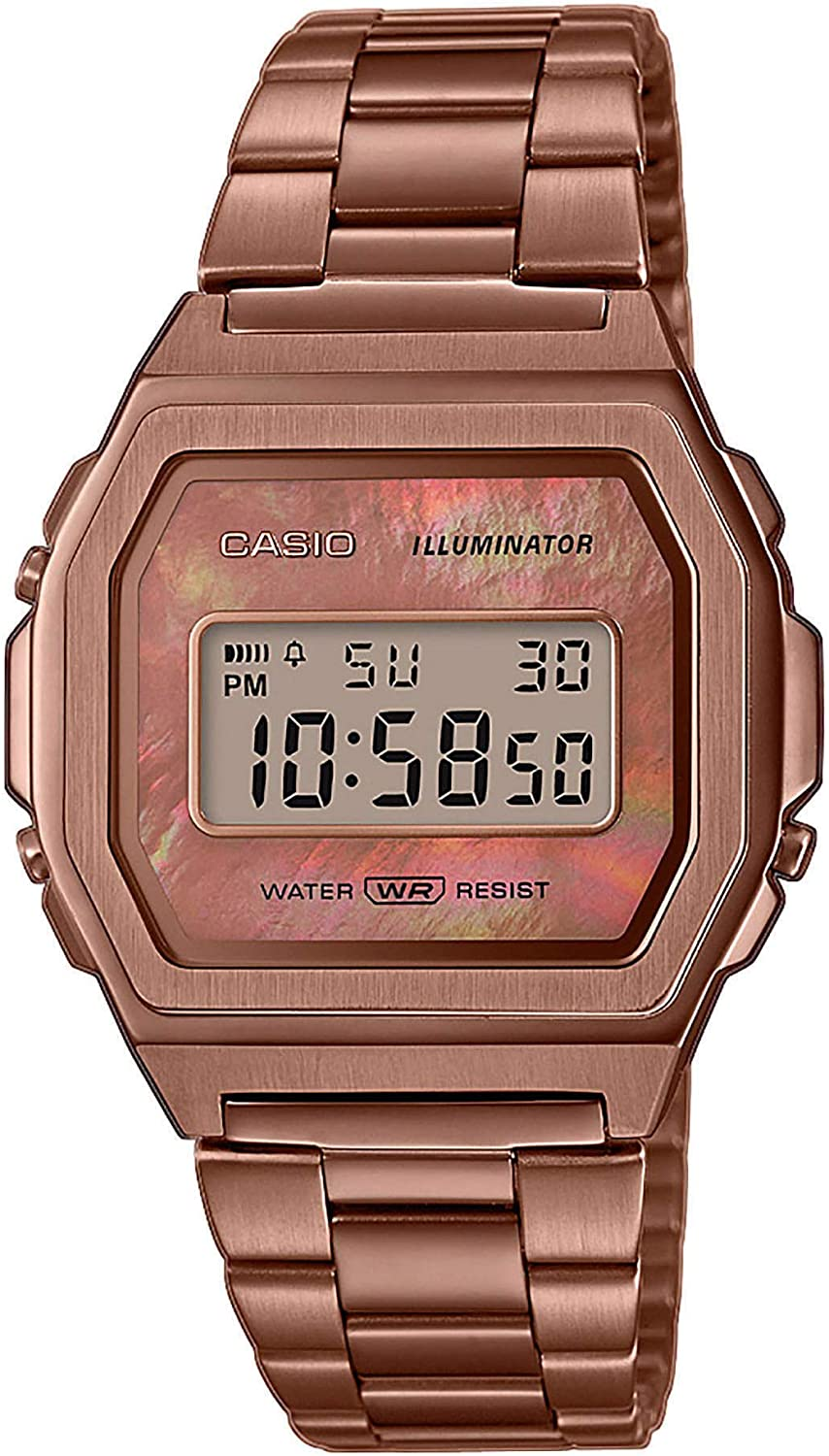 Casio Collection Reloj Digital para Mujer con Correa de Acero Inoxidable
