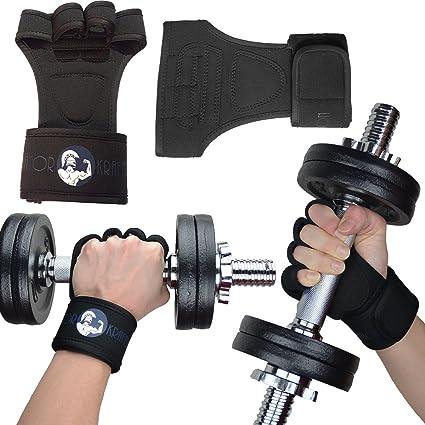 Entrenamiento / Levantamiento de pesas, guantes sin dedos con muñequera, guantes de