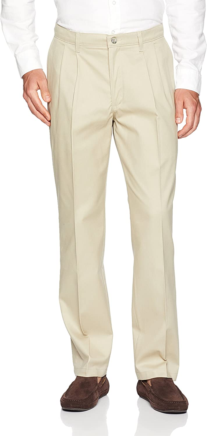 Lee Mens Total Freedom Stretch Relaxed Fit Pleated Front Pant Casual Pants