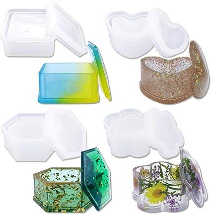 DIY Hexagon Storage Box Mold Crystal Epoxy Plum-shaped Silicone Mould Decoration