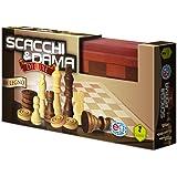 Editrice Giochi 6036101 - Giochi Classici Dama & Scacchi Deluxe in Legno