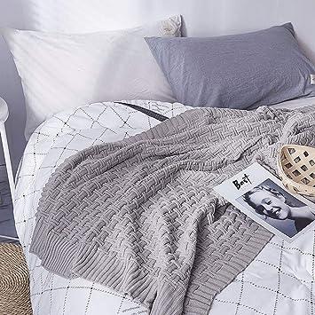 Amazon.com: HKJhk - Manta de punto para siesta, estilo ...