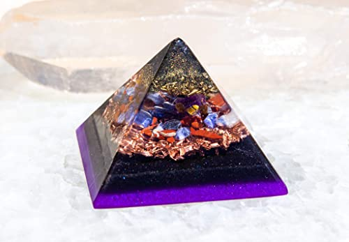 Pure Protection Orgonite Pyramid/Orgon Generator/EMF Protection Energy Healing Tool