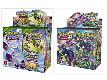 Amazon.com: Pokemon Ancient Origins Booster Box and Roaring ...