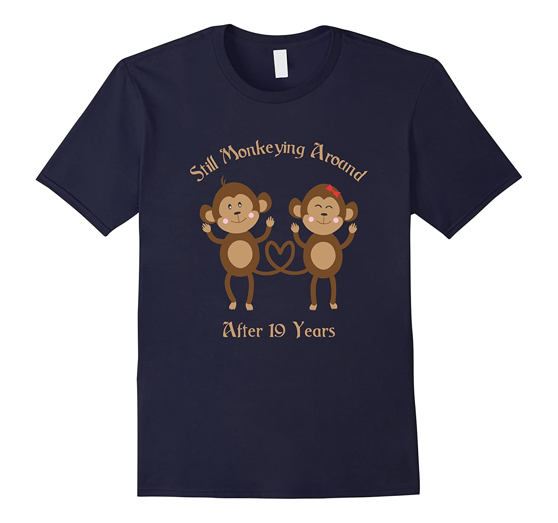 19th Wedding Anniversary T-Shirt - 19 Years Vintage Gift-TD