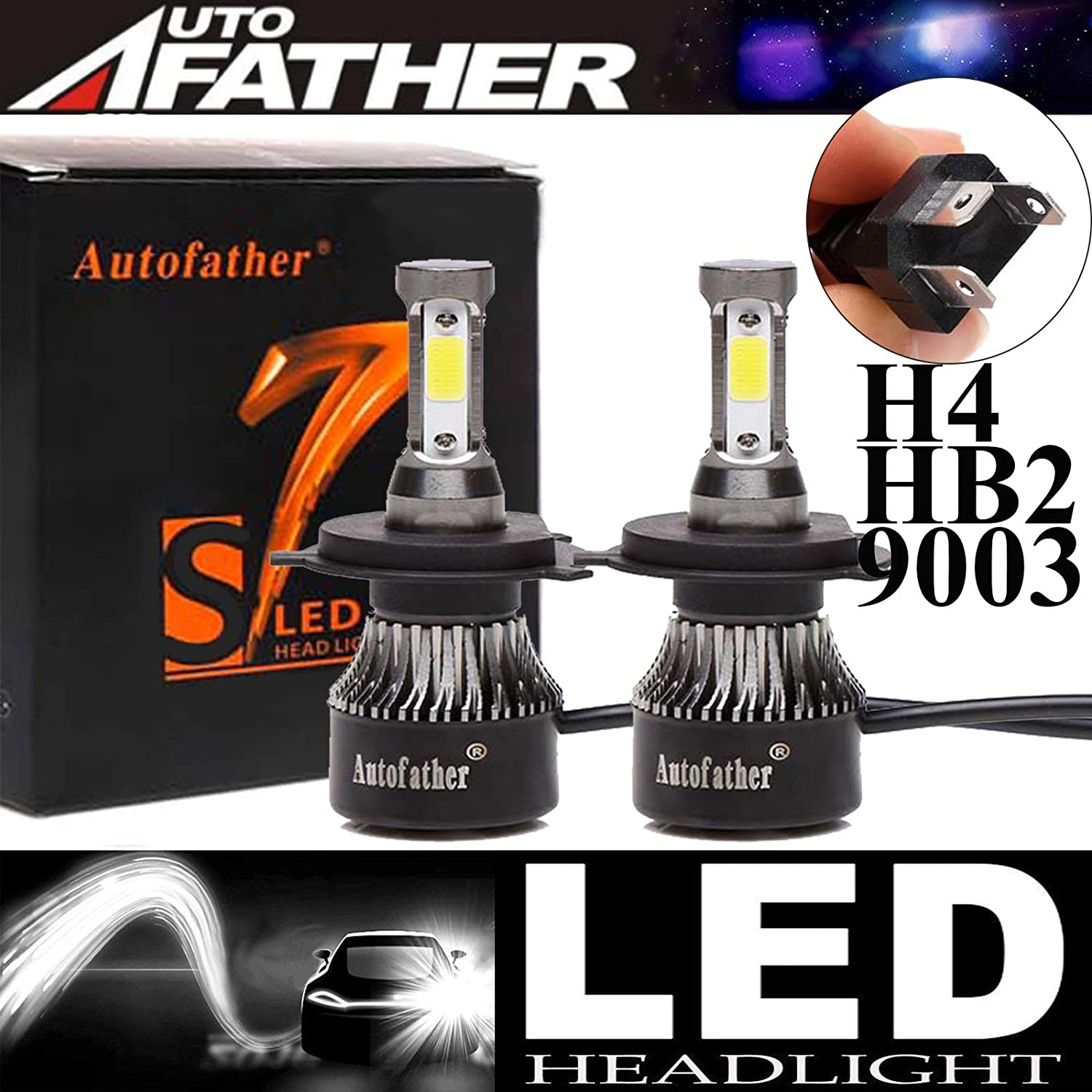 Fiat Idea White 4-LED Xenon Bright ICE Side Light Beam Bulbs Pair Upgrade