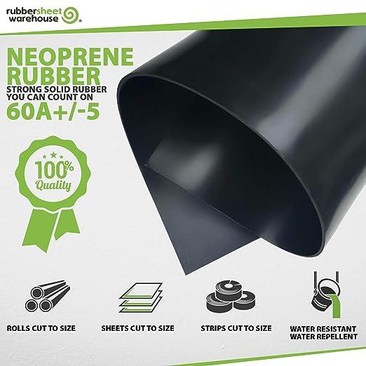 Strips 3//16 .187 Neoprene Rubber Sheet Thick x 18 Wide x 36 Long Solid Rubber Rolls