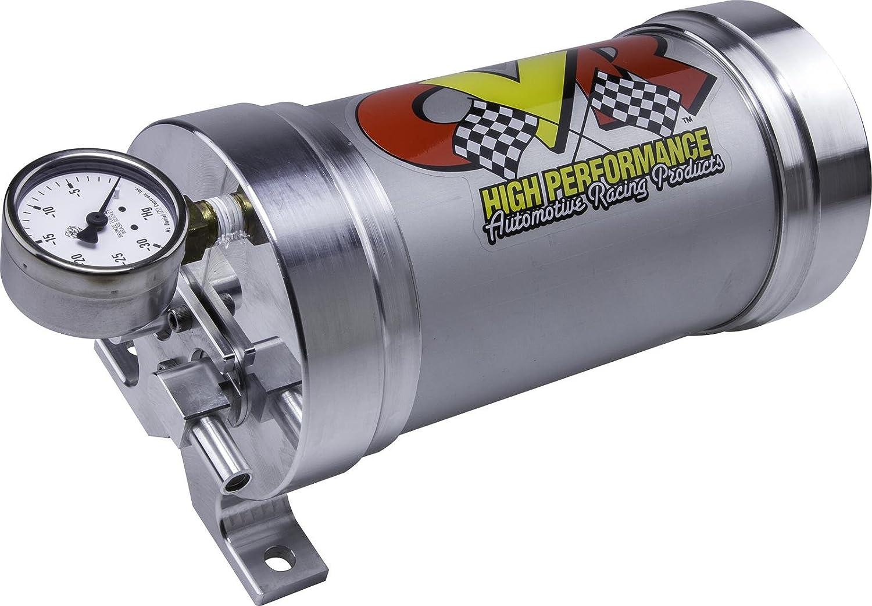 CVR VPR700 Billet Aluminum Power Brake Vacuum Reservoir w/ Check Valve & Gauge