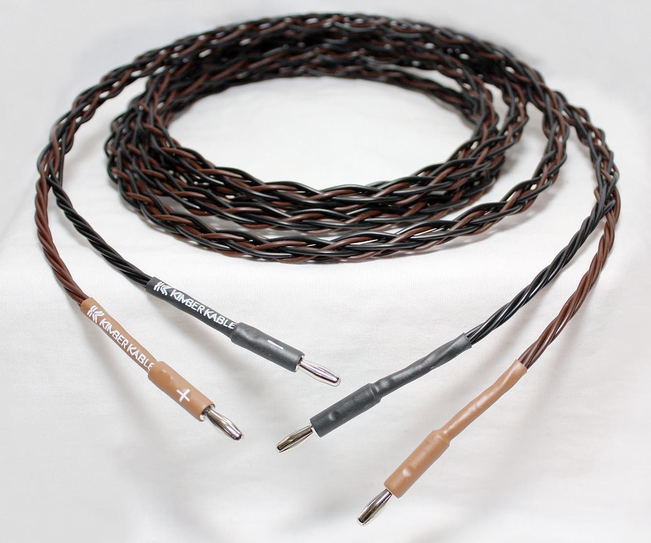 Kimber Kable 4PR Speaker Cable with SBAN Standard 4mm Banana Plugs ...