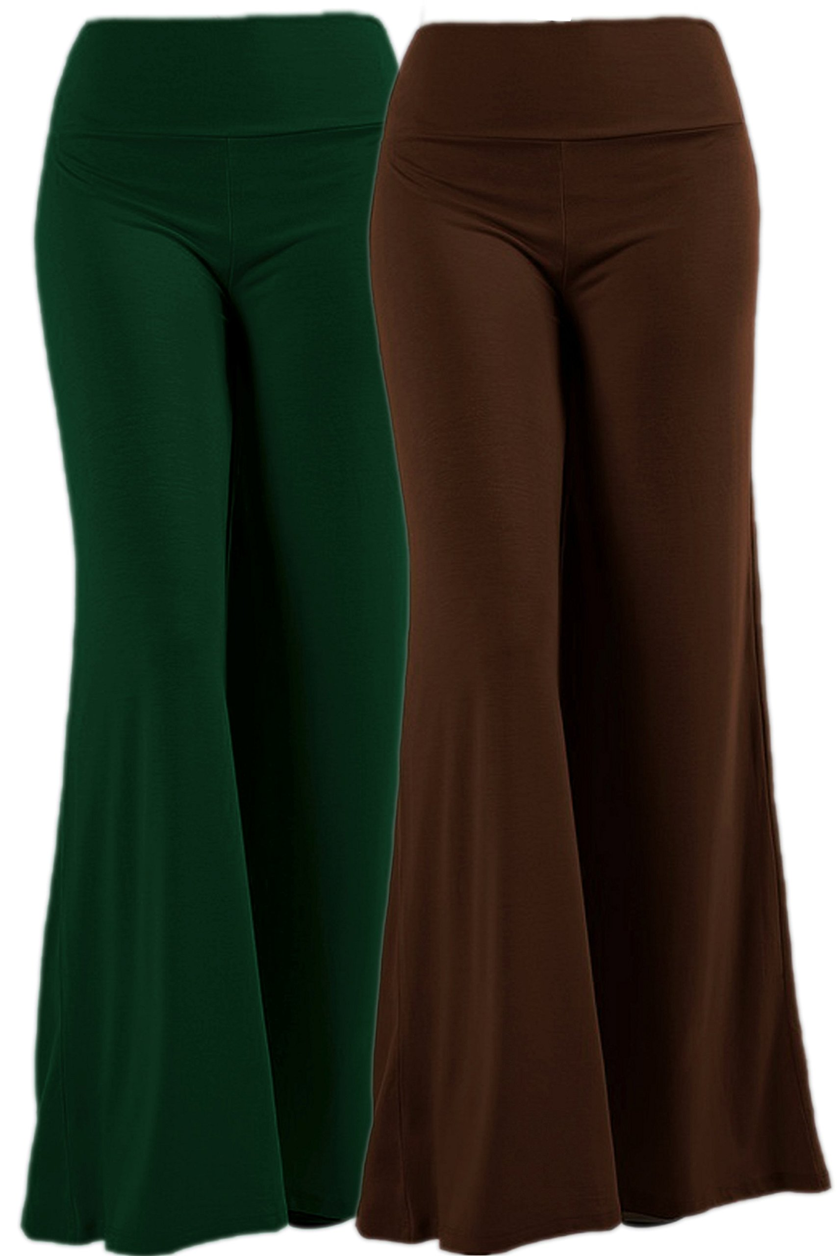 TOP LEGGING TL Women's Versatile Comfy Wide Leg Long Maternity Palazzo Gaucho Lounge Pants 79PSET2_Hunt_Ameri XL